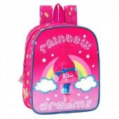 Mochila pré escolar 27cm adap trolls - Rainbow