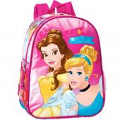 Mochila pre escolar 28cm Princesas Bela e Cinderela