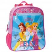 Mochila pré escolar 28cm Princesas Disney - Rainbow