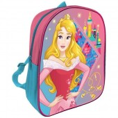 Mochila pré-escolar 28cm Princesas Disney