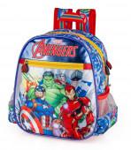 Mochila Pré Escolar 29cm Avengers Marvel