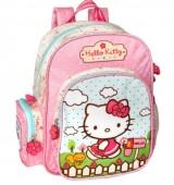 Mochila pré-escolar 29cm Hello Kitty garden