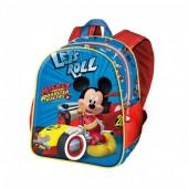 Mochila pré-escolar 30cm Mickey Racers - Let´s Roll
