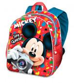 Mochila Pré Escolar 30cm Mickey Say Cheese