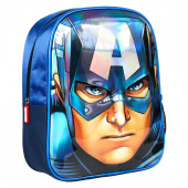 Mochila Pré Escolar 31cm 3D Capitão América Avengers