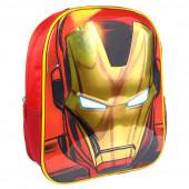 Mochila Pré Escolar 31cm 3D Iron Man Avengers