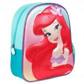 Mochila Pré Escolar 31cm Ariel Disney