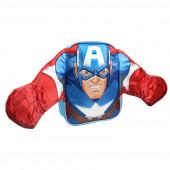 Mochila Pré Escolar 31cm Capitão América Avengers