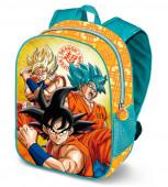 Mochila Pré Escolar 31cm Dragon Ball Sayan 3D