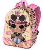 Mochila Pré Escolar 31cm LOL Surprise Glitter Tigresa 3D