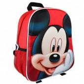 Mochila pré-escolar 31cm Mickey 3D Disney