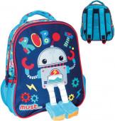 Mochila Pré Escolar 31cm Must Robot