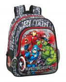Mochila Pré Escolar 33cm adap trolley Avengers Heroes