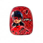 Mochila Pré Escolar 33cm Ladybug 3D