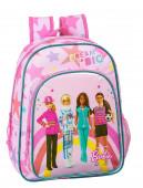 Mochila Pré Escolar 34cm adap trolley Barbie Dreamer