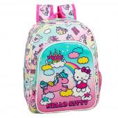 Mochila Pré Escolar 34cm adap trolley Hello Kitty Candy Unicorn