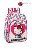 Mochila Pré Escolar 34cm adap trolley Hello Kitty Girl Gang