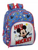 Mochila Pré Escolar 34cm adap trolley Mickey Things