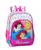 Mochila Pré Escolar 34cm adap trolley Princesas Disney Be Bright