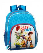 Mochila Pré Escolar 34cm adap trolley Toy Story Play Time