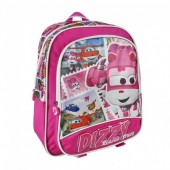 Mochila pré escolar 34cm com Dizzy de Super Wings - Rescue Power