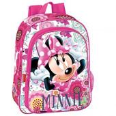 Mochila pre escolar 37cm Minnie rosa