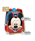 Mochila pré-escolar 3d com Luz e Som Mickey Mouse