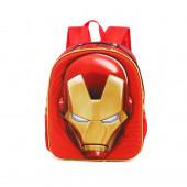 Mochila Pré-escolar 3D Iron Man 31cm Iron