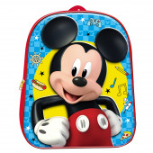 Mochila Pré Escolar 3D Mickey 31cm