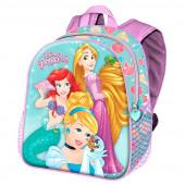 Mochila Pré Escolar 3D Princesas Disney Beautiful 31cm
