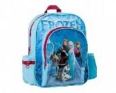 Mochila pre escolar c/ bolsos Frozen Blue