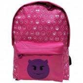 Mochila pré-escolar Emoji - Demónio - 37cm