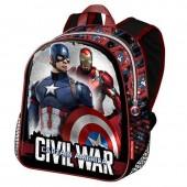 Mochila pre escolar Marvel Capitan America Civil War Shield