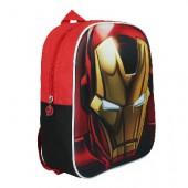 Mochila pré escolar Marvel Homem Ferro 3D