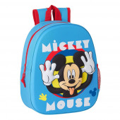 Mochila Pré Escolar Mickey 3D 33cm adap trolley