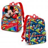 Mochila pré escolar reversível Mickey - Crayons