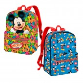 Mochila pré escolar reversível  Mickey - Delicious Candy