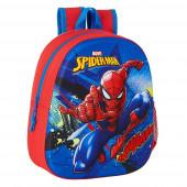 Mochila Pré Escolar Spiderman 3D 33cm adap trolley