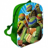 Mochila Pre Escolar Tartarugas Ninja 3D soft