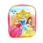 Mochila simples pré-escolar 28cm Princesas Disney