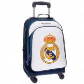 Mochila Troley Escolar Compacto Campus Branco Real Madrid