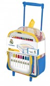 Mochila trolley conjunto pintura do Real Madrid