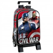 Mochila Trolley escolar Capitão America Civil War Justice