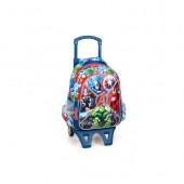 Mochila Trolley Escolar Premium 39cm Avengers