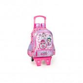 Mochila Trolley Escolar Premium 39cm LOL Surprise Bubbles