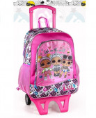 Mochila Trolley Escolar Premium 39cm LOL Surprise Glitter
