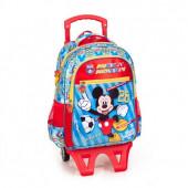 Mochila Trolley Escolar Premium 39cm Mickey Team Mickey