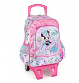 Mochila Trolley Escolar Premium 39cm Minnie Mermaid