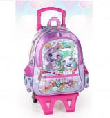 Mochila Trolley Escolar Premium 39cm Poopsie Dream In Color