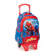 Mochila Trolley Escolar Premium 39cm Spiderman Webbed Wonder